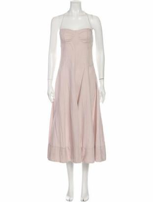 Ulla Johnson Square Neckline Long Dress Pink