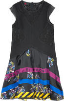 Richmond Jr Milano jersey dress with lace and printed silk skirt