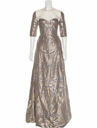 Manish Arora Printed Evening Dress Grey