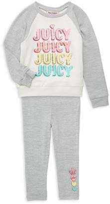 Juicy Couture Girl's 2-Piece Graphic Top & Pants Set