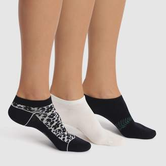 Dim Pack of 3 Pairs of Pocket Trainer Socks in Cotton Mix