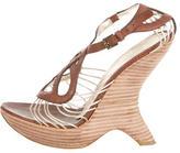 Alberta Ferretti Leather Multistrap Sandals
