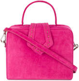 Mehry Mu Mini pink suede boxy cross body bag