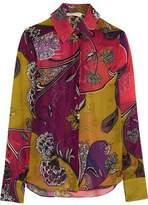 Matthew Williamson Printed Silk-Chiffon Shirt