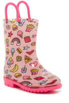 Capelli of New York Shiny Gourmet Food Haven Print Rain Boot (Toddler)