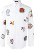 Versace logo print shirt - men - Cotton - 37