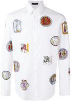 Versace logo print shirt - men - Cotton - 38