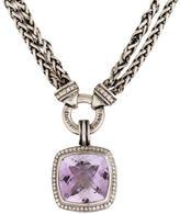 David Yurman Amethyst & Diamond Albion Pendant Necklace