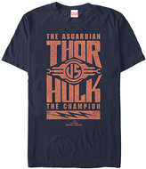 Fifth Sun Men's Tee Shirts NAVY - Thor Ragnarok Navy Thor & Hulk Stack Tee - Men