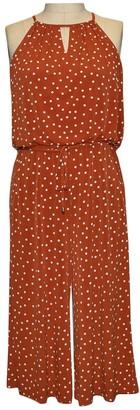 London Times Happy Dot Cropped Jumpsuit (Plus Size)