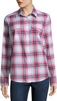 ST. JOHN'S BAY St. John's Bay 2-Pocket Classic Shirt