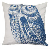 B. Smith The Vintage House by Park Owl Square Throw Pillow