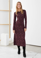 And other stories Fitted Long Sleeve Midi Dress