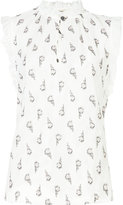 Rebecca Taylor floral print sleeveless blouse - women - Silk/Polyester/Acetate - 8