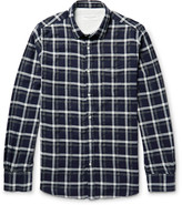 Officine Generale Lipp Checked Stretch Cotton-Blend Shirt