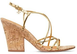 Tory Burch Penelope Metallic Cork Slingback Sandals