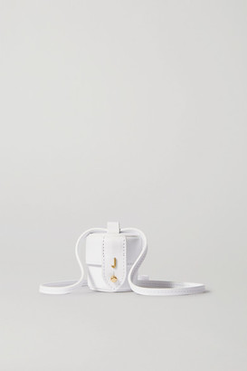 Jacquemus Le Micro Vanity Mini Leather Shoulder Bag - White