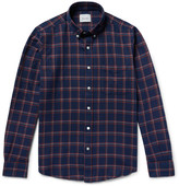 Steven Alan Button-Down Collar Checked Brushed-Cotton Shirt