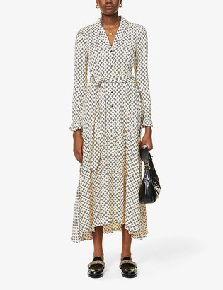 Me And Em Dot print woven midi shirt dress