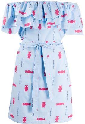 Love Moschino Printed Poplin Dress