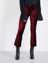Paige Colette flared high-rise velvet jeans