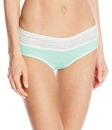 Warner's Women's No Pinches No Problem Cotton Lace Hipster Panty