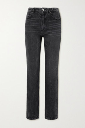 Balenciaga High-rise Straight-leg Jeans - Black