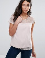 Only You Lin Lace Insert Blouse