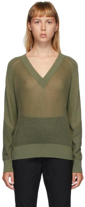 Rag & Bone Green Adaya V Neck Sweater ShopStyle