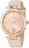 Versus By Versace Women's 'COVENT GARDEN' Quartz Stainless Steel and Leather Casual Watch, Color:Beige (Model: SCD080016)