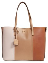 Louise et Cie Elay Leather Shoulder Tote - Beige