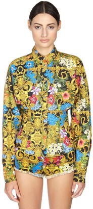 Versace Printed Cotton Corset Shirt