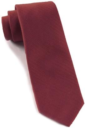Tie Bar Astute Solid Burgundy Tie