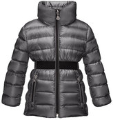 Moncler Talcy Turtleneck Down Puffer Coat, Charcoal, Size 8-14