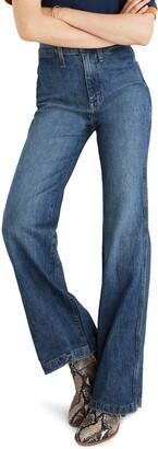 Madewell 11-Inch High Waist Welt Pocket Flare Jeans