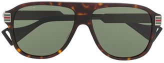 Gucci Web aviator sunglasses