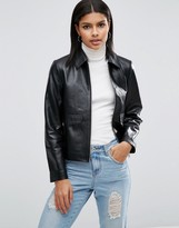 Asos Minimal Leather Jacket