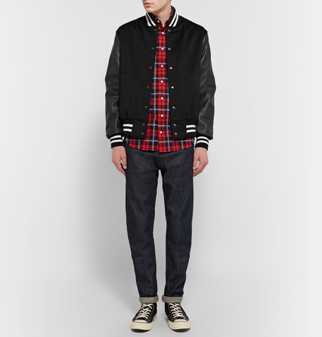 GoldenBear Golden Bear - Leather and Wool Bomber Jacket