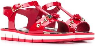 Dolce & Gabbana Kids Embellished Open-Toe Sandals