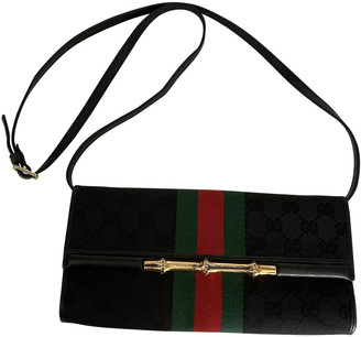 Gucci Bamboo Black Cloth Clutch bags