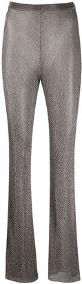 Thierry Mugler High Waisted Flare Trousers