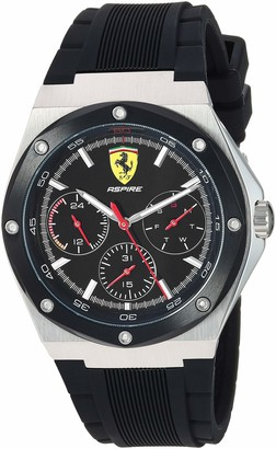 Ferrari Aspire Quartz Stainless Steel and Silicone Strap Casual Watch