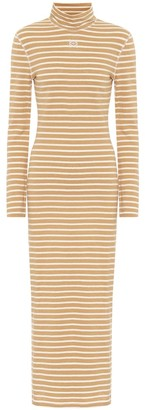 Loewe Striped cotton-jersey midi dress