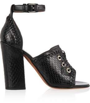 Givenchy Nekka Elaphe And Leather Sandals