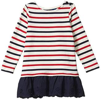 Polo Ralph Lauren Striped Cotton Jersey Dress (Toddler) (Clubhouse Cream) Girl's Dress