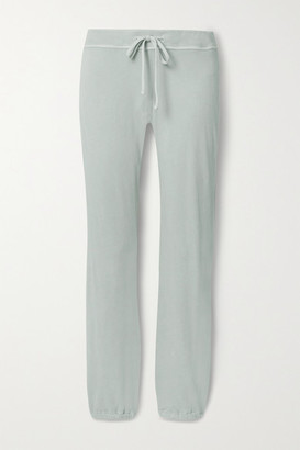 James Perse Genie Supima Cotton-terry Track Pants - Light gray