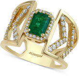 Effy Emerald (1 ct. t.w.) and Diamond (1/2 ct. t.w.) Ring in 14k Gold