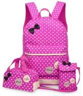 Tibes Fashion Waterproof Girl's Cute Backpack + Shoulder bag + Pencil Purse 3pcs Set Kids Backpack Pink