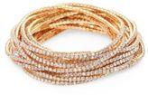 ABS by Allen Schwartz Out Last Night Pavé Crystal Stretch Bracelets/Set of 20