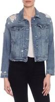 Joe's Jeans Women's Taylor Hill X Dolman Distressed Denim Jacket